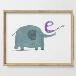 E is for Elephant Serving Tray