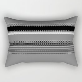 Gray Stripes Abstract Rectangular Pillow