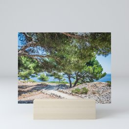 Calanques near Cassis in a summer day Mini Art Print