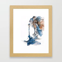 Watercolor painting. Budapest. Framed Art Print