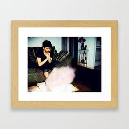 s o m e t i m e s. self. Framed Art Print