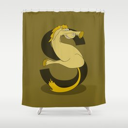 Monogram S Pony Shower Curtain