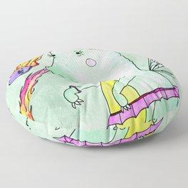 T-rex fairy princess and danger bunnies Floor Pillow