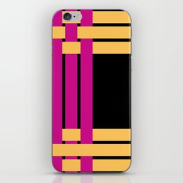 The intertwining pink and yellow ribbons iPhone Skin