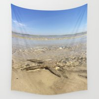 starfish Wall Tapestries featuring Starfish by M. Gold Photography