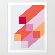 Poligonal 64 Art Print