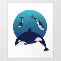 Dance of the Orca Art Print