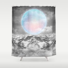Places Neither Here Nor There (Guardian Moon) Shower Curtain