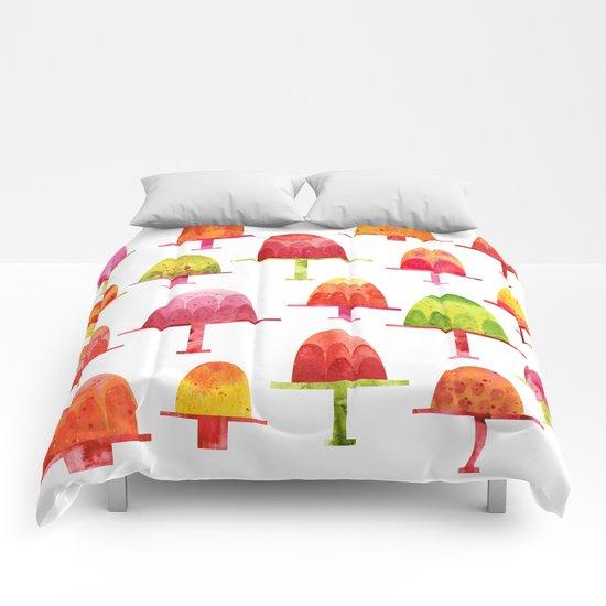Jellies on Plates Comforters