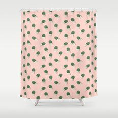 Cute Cactus Pink Pattern Shower Curtain