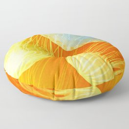 Jellyfish of the Orange Marmalade Hoodie Floor Pillow