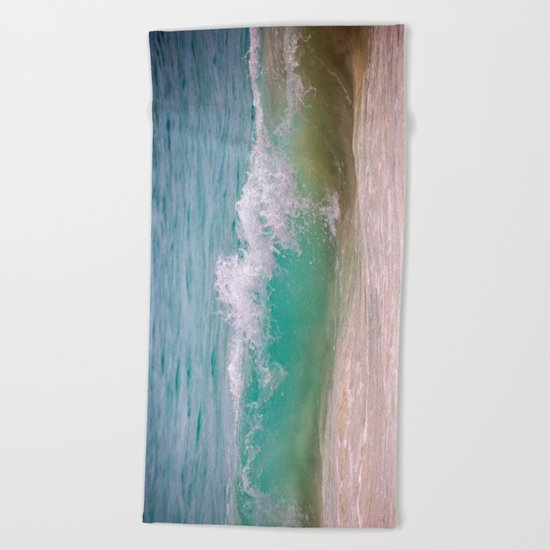 Caribbean Wave Beach Towel