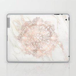 Rose Gold Mandala Marble Laptop & iPad Skin