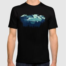Alpine Hut X-LARGE Mens Fitted Tee Black