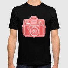I Still Shoot Film Holga Logo - Red SMALL Black Mens Fitted Tee
