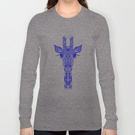 GIRAFFE BLUE Long Sleeve T-shirt