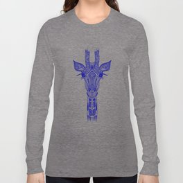GIRAFFE BLUE Long Sleeve T-shirt