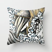 valar morghulis Throw Pillows featuring Second meeting by Anca Chelaru