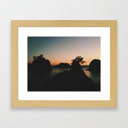 Southern Oregon Coast Sunset Framed Art Print