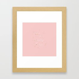 NEVER BE A CASUALTY OF LOVE Framed Art Print