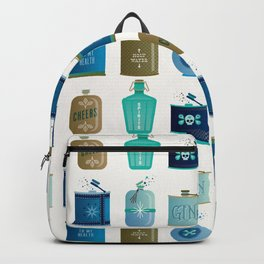Flask Collection – Blue and Tan Palette Backpack