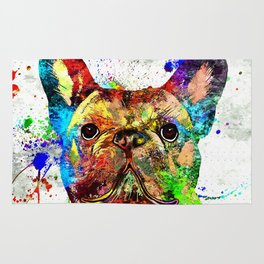 French Bulldog Grunge Rug
