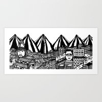 korea Art Prints featuring Korea by Matt Ferguson