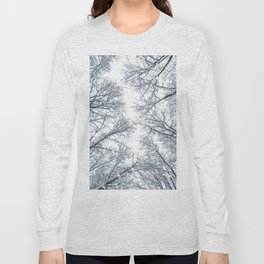 Snow covered top trees, Winter trees crown. Long Sleeve T-shirt