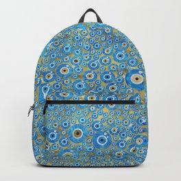 Greek Blue Glass Evil Eye Amulet 2 Backpack