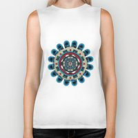 sacred geometry Biker Tanks featuring Sacred Geometry by Angel Decuir