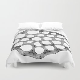 GEOMETRIC NATURE: LILY SEED w/b Duvet Cover