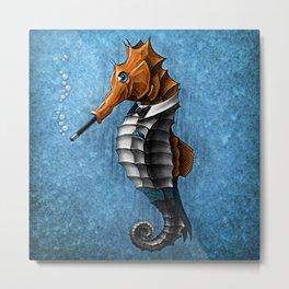 Sophisticated Seahorse Metal Print