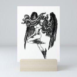 Alecto greek goddess Mini Art Print