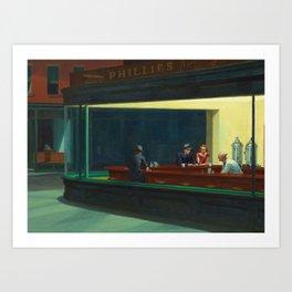 NIGHTHAWKS - EDWARD HOPPER Art Print