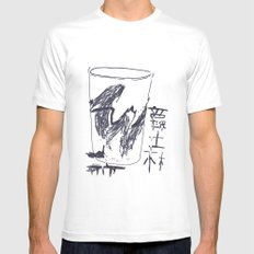 Jazz Cup White Mens Fitted Tee MEDIUM