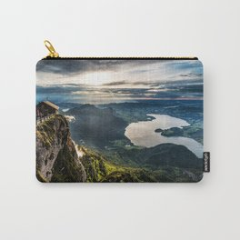 Wolfgangsee lake sunset mountain landscape evening view from above Upper Austria Salzburg Austria Carry-All Pouch