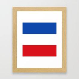 Flag of Quetzaltenango Framed Art Print