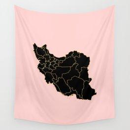 Iran map Wall Tapestry
