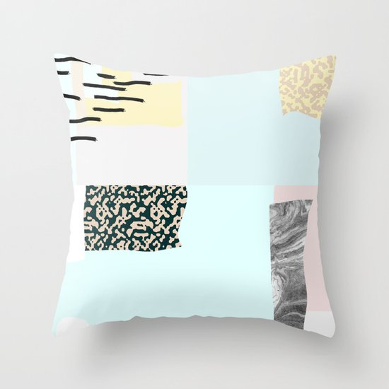 On the wall#4 Throw Pillow