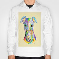 greyhound Hoodies featuring Greyhound by EloiseArt