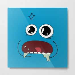 Mr Meeseek Metal Print