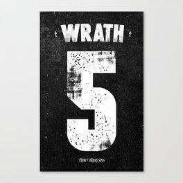 7 Deadly sins - Wrath Canvas Print