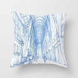 BluePrints | Brookfield Place Glass Arcade - Toronto Throw Pillow