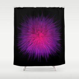 PurplExplode Shower Curtain