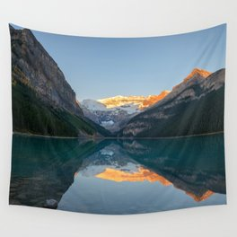 LAKE LOUISE AUTUMN SUNRISE BANFF NATIONAL PARK CANADA LANDSCAPE PHOTOGRAPHY Wall Tapestry