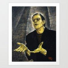 Frankenstein: LIGHT Art Print