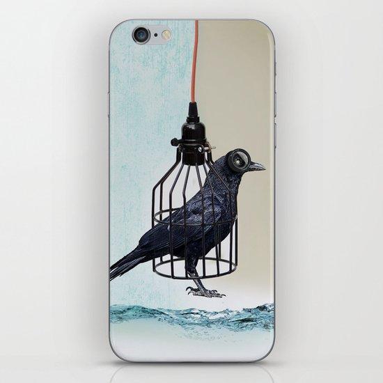 bird in the wire iPhone & iPod Skin