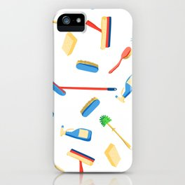 Cleaning service supplies. iPhone Case