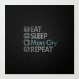 Man City Activity Canvas Print
