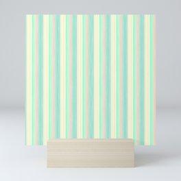 Turquoise Light Yellow Scrapbook Sherbert Mini Art Print